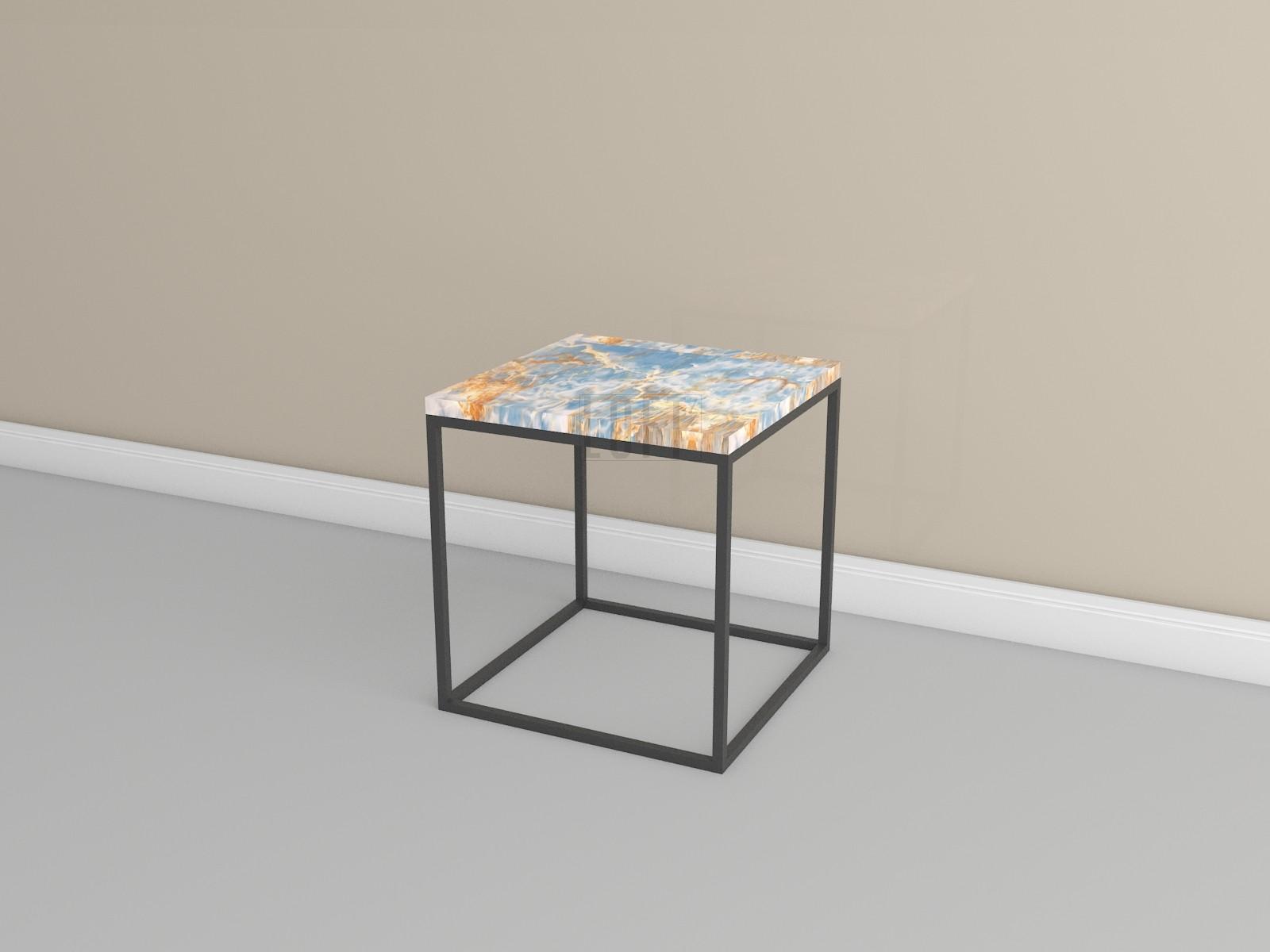Журнальный столик с каменной столешницей