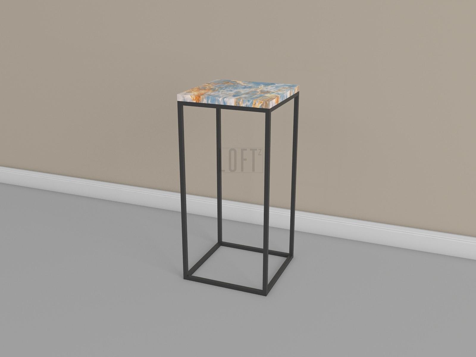 Столик консольный на металлокаркасе