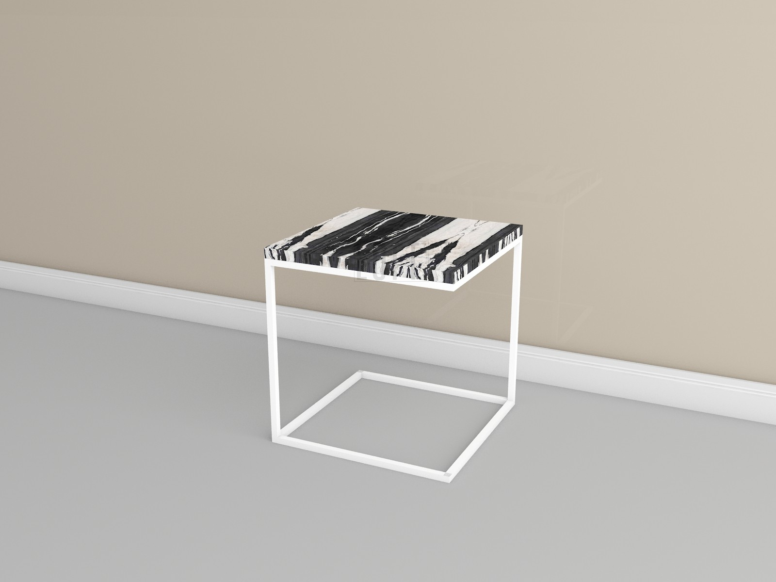 Журнальный столик со столешницей из камня