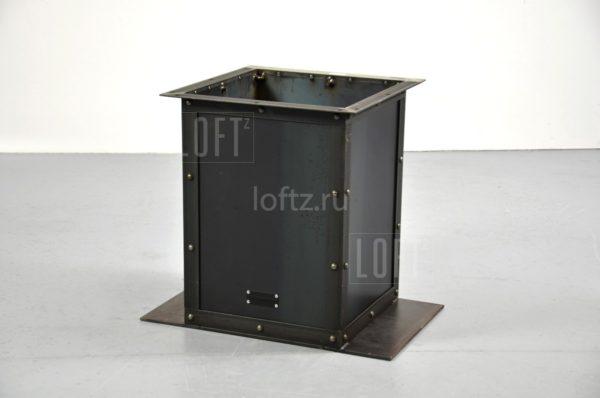 Опора для стола лофт с массивной столешницей