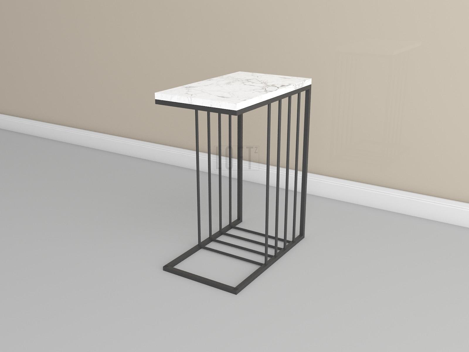 Столик придиванный с мраморной столешницей
