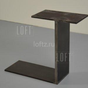 Минималистичное подстолье лофт для массивных столешниц