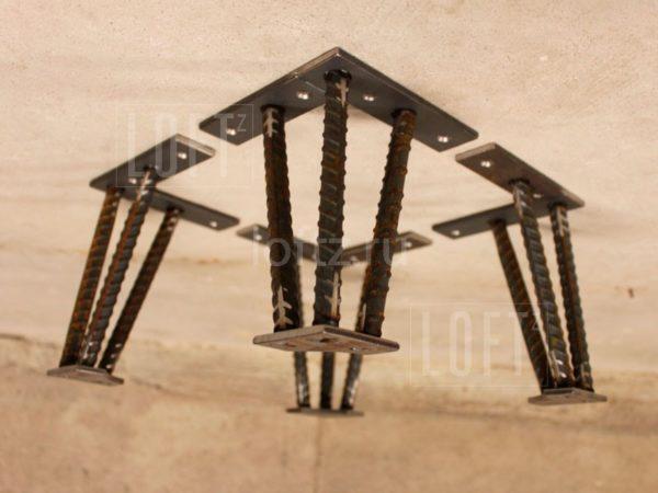 Опоры из арматуры в лофт стиле