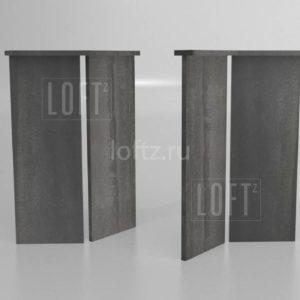 Подстолье лофт из листа для средних столешниц