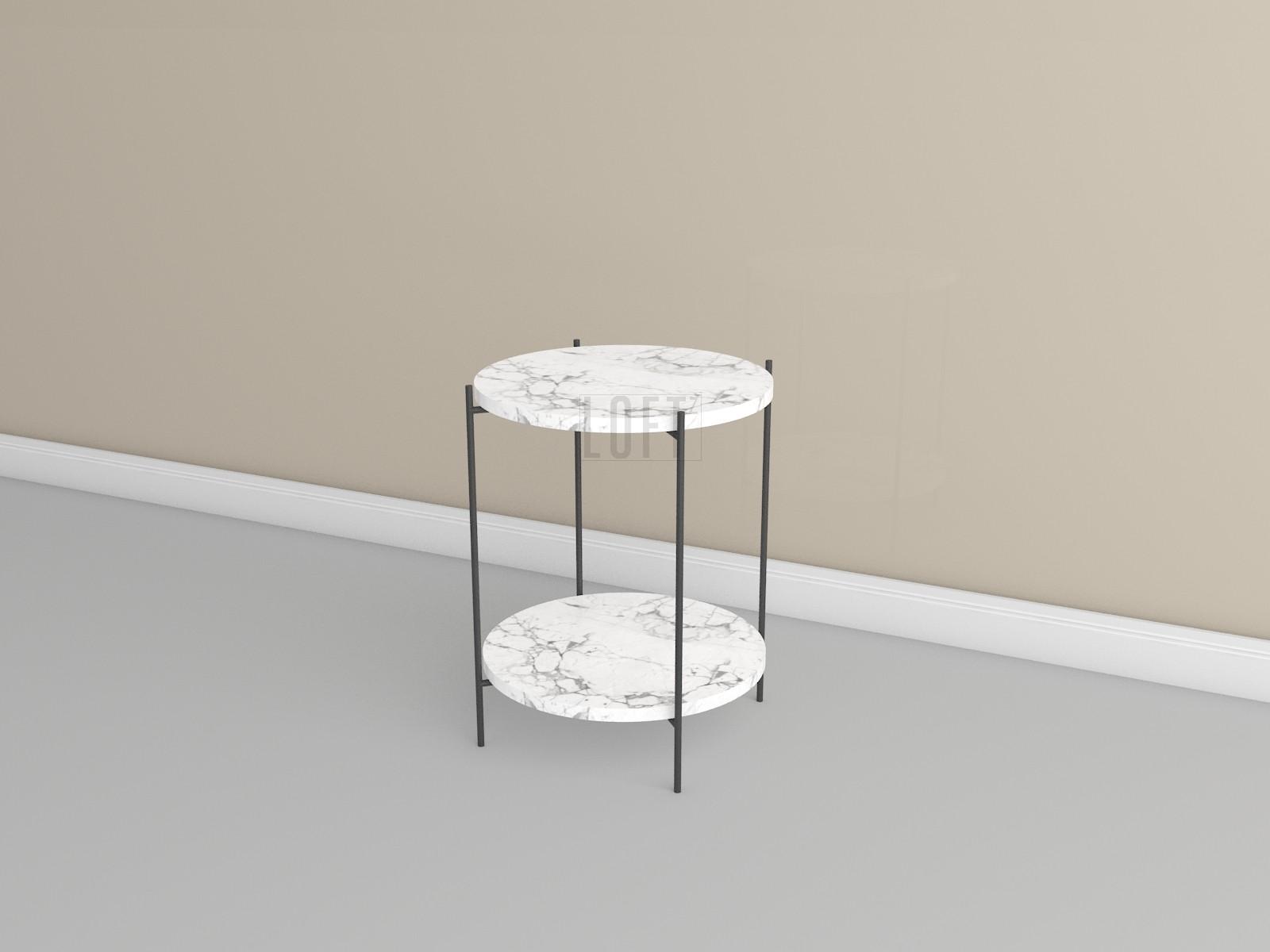 Кофейный столик с двумя мраморными столешницами