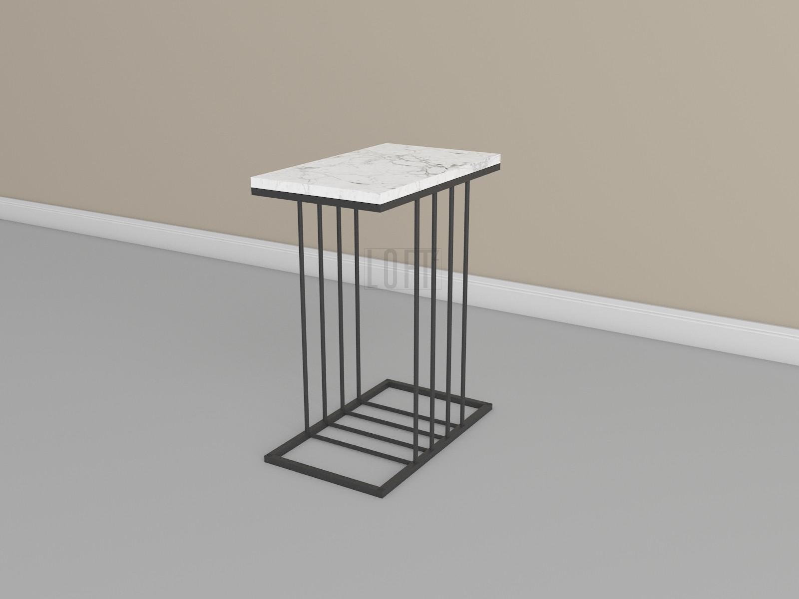 Кофейный столик со столешницей из мрамора