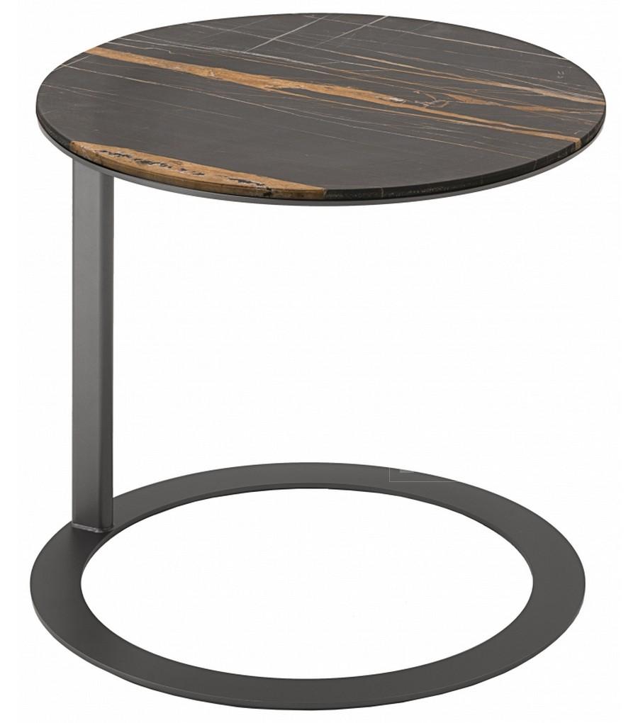 Круглый журнальный столик из стальной полосы