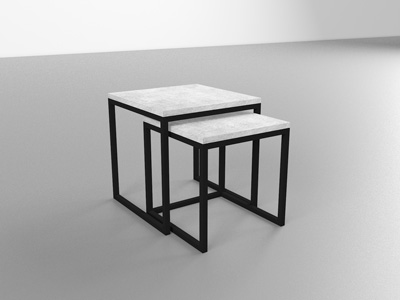 Журнальный столик лофт со столешницей из бетона.